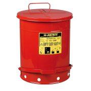Justrite – Biztonsági pedálos hulladékgyűjtő 53 L, ø 408x514mm