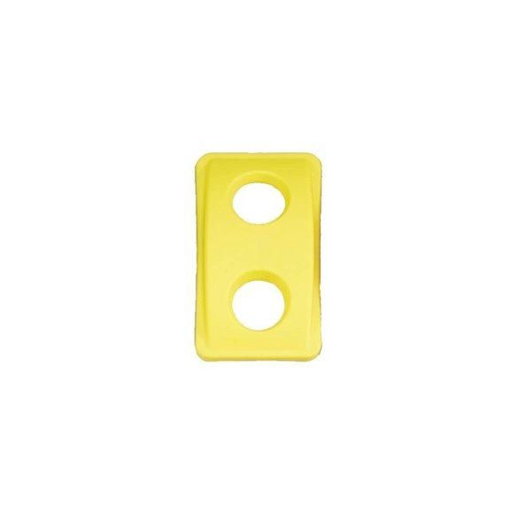 Sárga műanyag fedél kerek bedobónyílással
