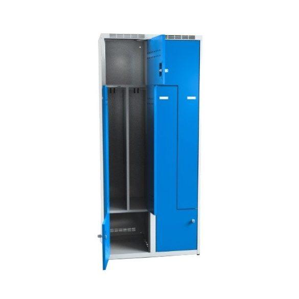 Öltözőszekrény-szürke/kék, 800x500x1800 mm