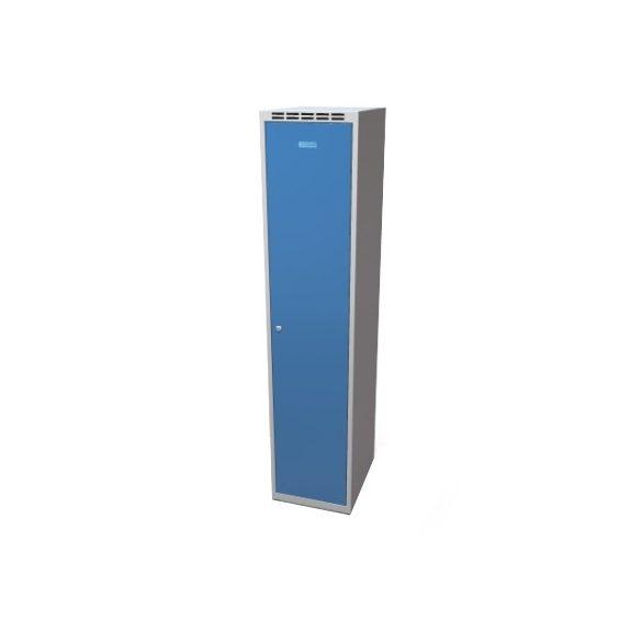 Öltöző szekrény rekeszekkel-szürke/kék