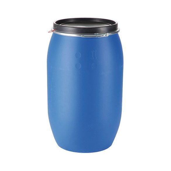 220 literes műanyag hordó levehető fedéllel