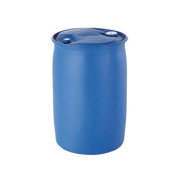 220 literes műanyag hordó felül dugóval