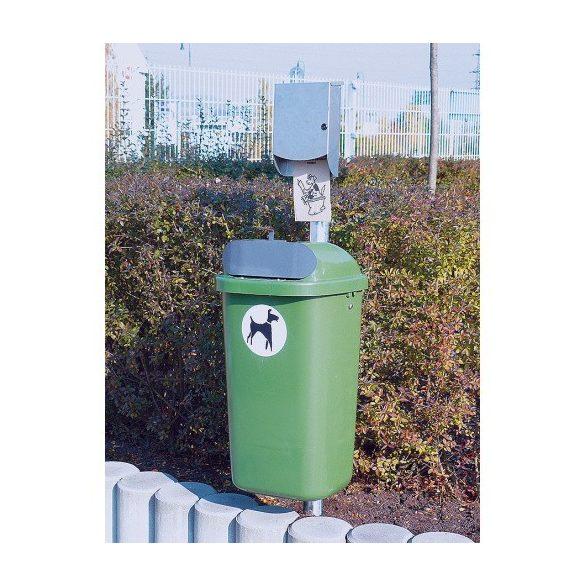 50 literes műanyag utcai kutyaürülék tároló