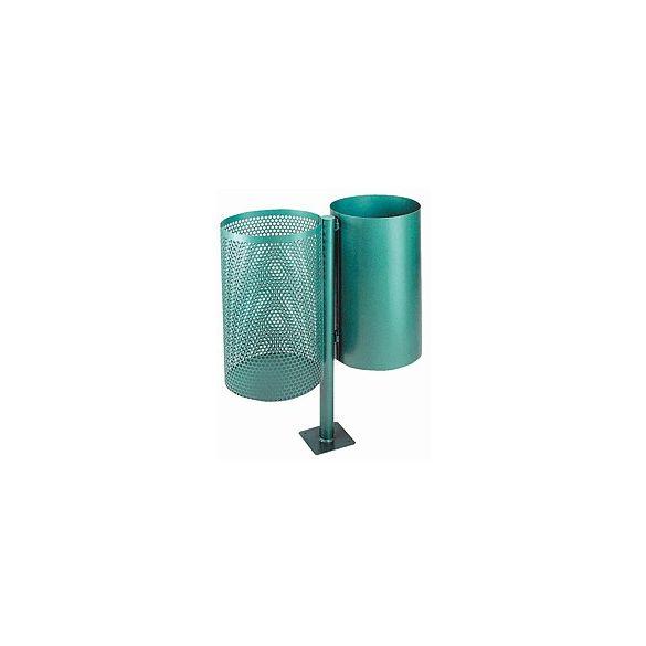 2 x 30 literes festett kültéri hulladéktároló, 2 x Ø 310x910 mm