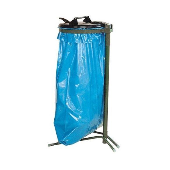 Műanyag fedelű zsákállvány (120 l), 390x950 mm