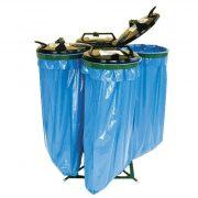 Műanyag fedelű kvatro zsákállvány (4 x 120 l), 1000x1020 mm