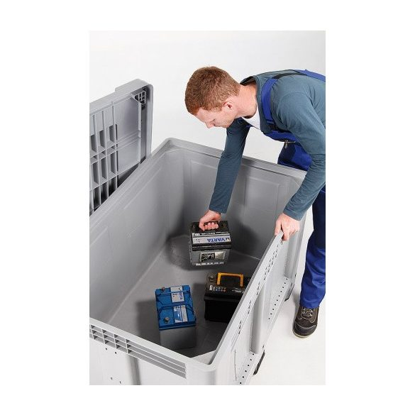 Akkumulátor tároló konténer, 1200x800x800 mm