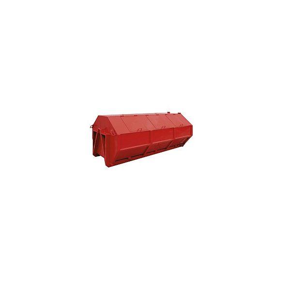 6,2 m³-es fém fedeles konténer, 3335x1820x1200 mm