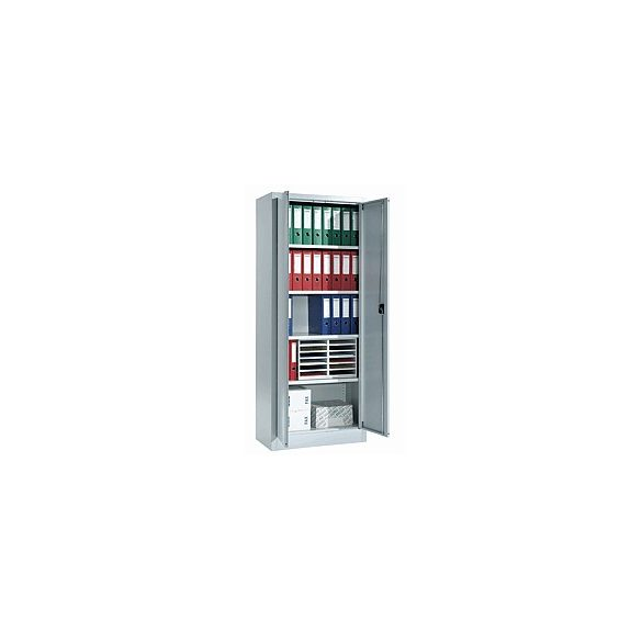 4 polcos fém tároló szekrény, 800x400x1950 mm