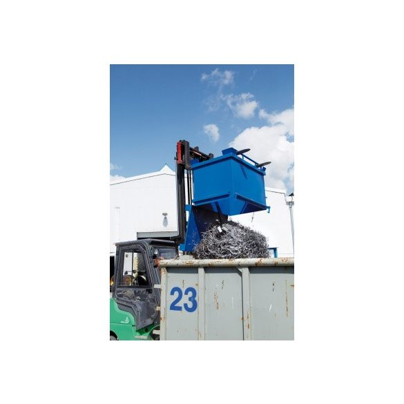 600 literes fém láda nyitható aljjal, 1260x840x910 mm