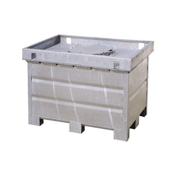 500 literes fém dupla falú veszélyes hulladéktároló, 1280x880x910 mm