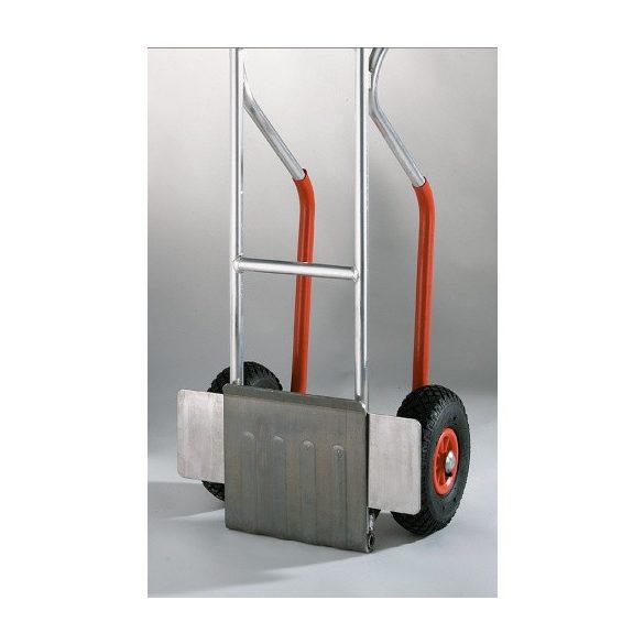 Kétkerekű alumínium szállítókocsi lehajtható lapáttal