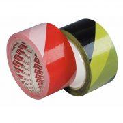 Sárga-fekete harántcsíkos ragasztószalag (50 mm)