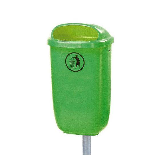 Műanyag hulladékgyűjtő oszlop nélkül, 50 L, 440x310x750 mm