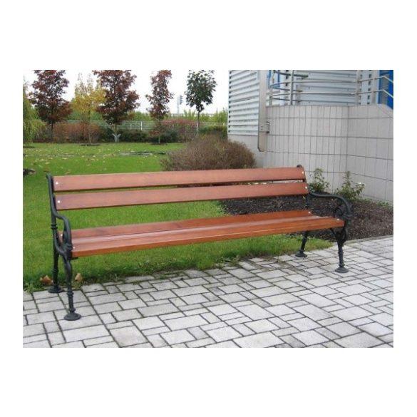 Wien öntöttvas pad fa ülőkével, 1800x400x710 mm