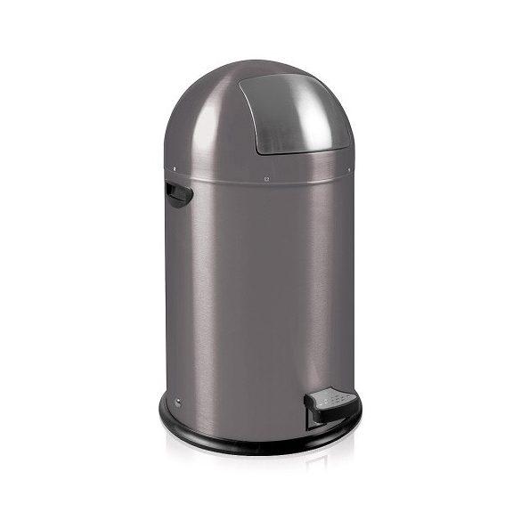 Lábpedálos fém hulladéktároló kivehető betéttel, 33 L, ø 350x700 mm