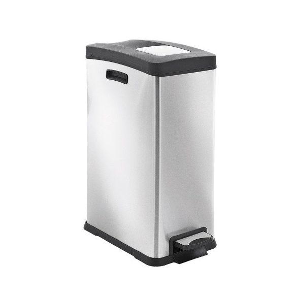Lábpedálos rozsdamentes szelektív hulladéktároló 30 l, 264x459x636 mm