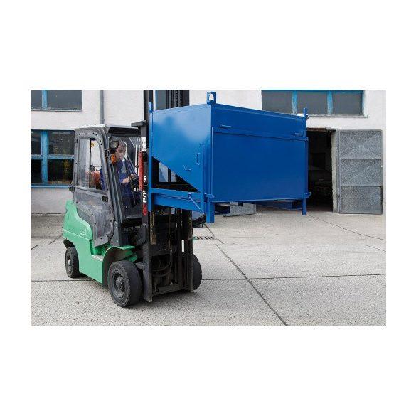Oldal ürítésű konténer, 1400x1000x1145 mm