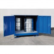 Zárt gyűjtőkád 4 db hordóra, 1400x1400x1460 mm