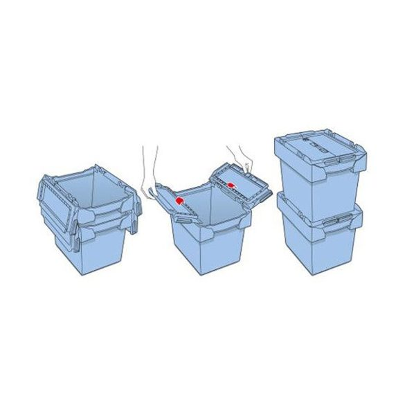 Fedeles láda 600x400x290 mm, 48 L