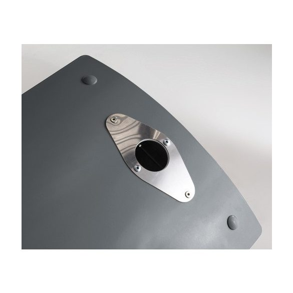 Négyszög alakú hulladéktároló hamutartóval, 110 L, 500x380x1060 mm