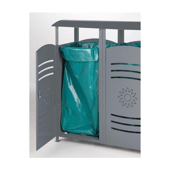 Szelektív hulladéktároló, 3 x 110 L, 1400x380x1060 mm