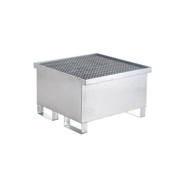 Fém gyűjtőkád egy hordóra, 800x800x400/500 mm, 216 L