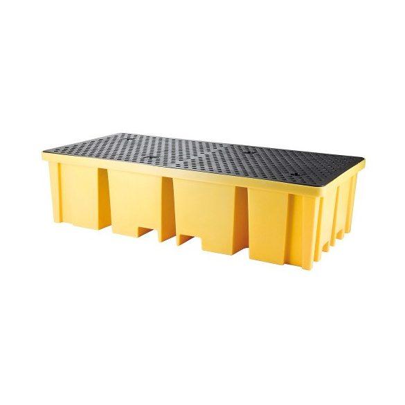 Gyűjtőkád 2 IBC konténerre, 2340x1225x610 mm, 1150 L