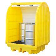 Fedett gyűjtőkád 4x 200 l hordóra, 1470x1420x2070 mm, 410  L