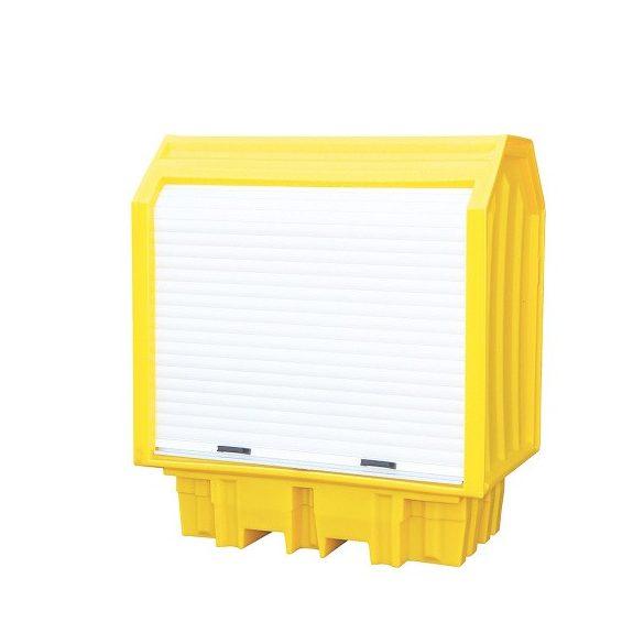 Fedett gyűjtőkád 2x 200 l hordóra, 1490x990x1690 mm, 230 L