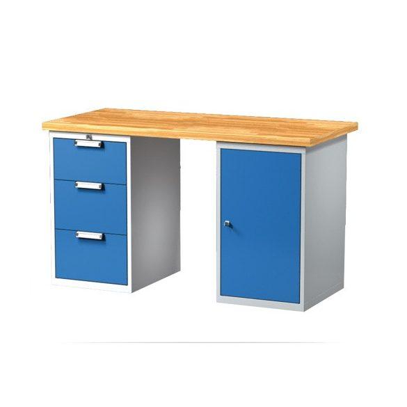 Munkaasztal, többféle méretben, 3 fiókkal, 1 szekrénnyel