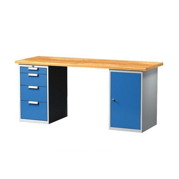 Munkaasztal, többféle méretben, 4 fiókkal, 1 szekrénnyel