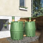 3 200 l vízgyűjtő tartály, 2x Ø 1350x1600 mm