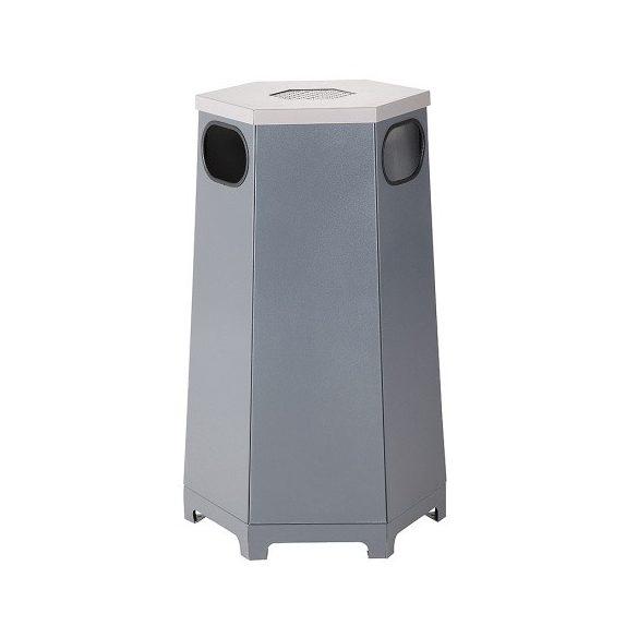 Hatszögű kültéri hulladéktároló, 80 L, 520x453x1000 mm