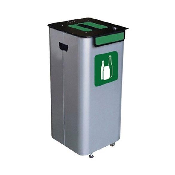 Kültéri hulladékgyűjtők, 70 L, 350x350x720 mm