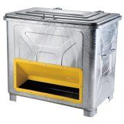 Homok és sótároló edény 800 L, 1250x855x1255 mm