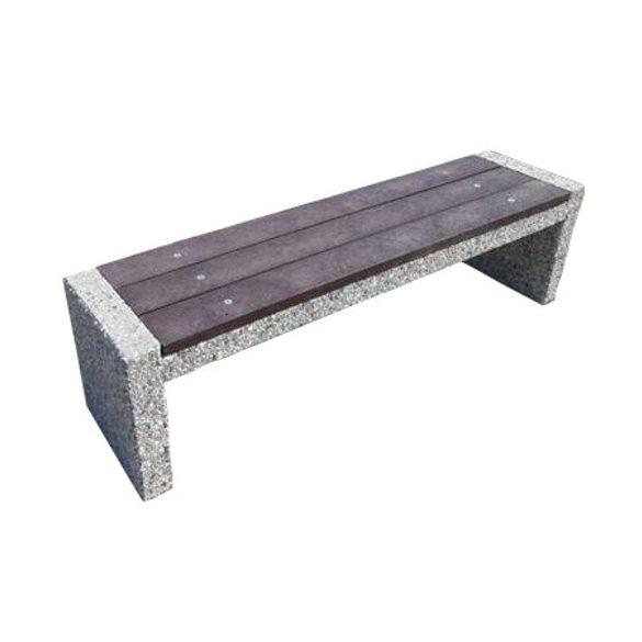 Beton pad háttámla nélkül, 1600x400x440 mm