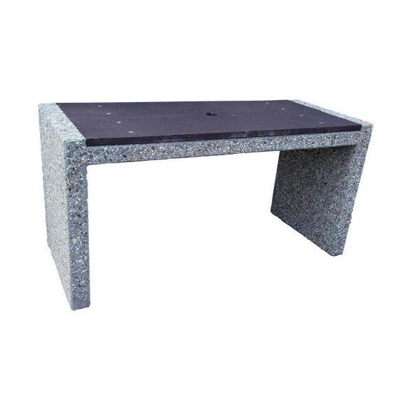 Beton asztal napernyő helyével kialakítva, 1590x650x800 mm