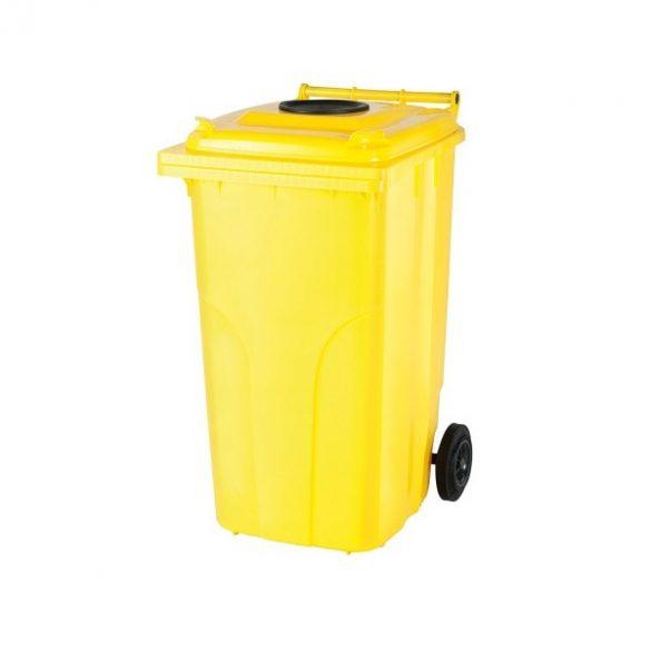 120 literes kerekes műanyag hulladékgyűjtő bedobónyílással