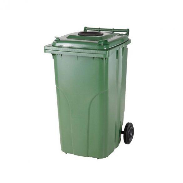 120 literes kerekes műanyag üveg hulladékgyűjtő bedobónyílással