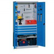Fém műhelyszekrény, 950x600x1950 mm