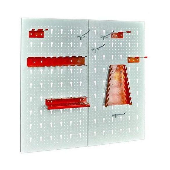 Falra szerelhető panel szerszámtartó készlettel, 10 darab