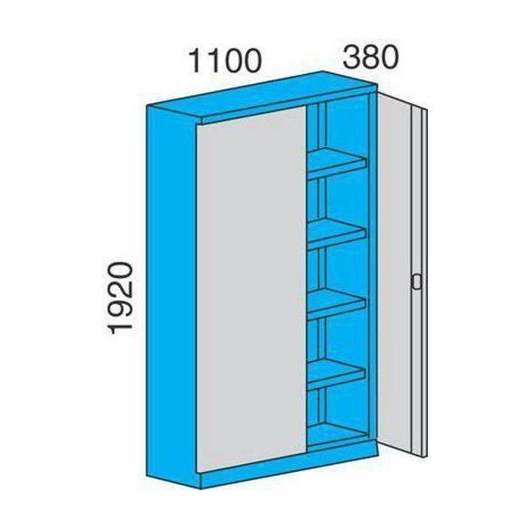 Fém műhelyszekrény, 1100x380x1920 mm