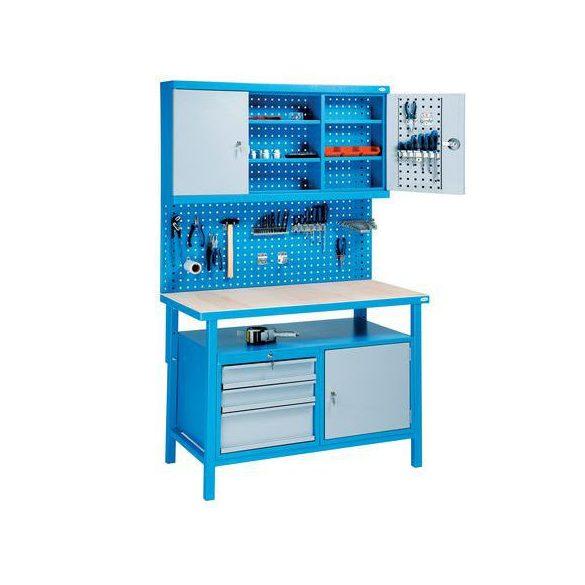 Hegesztett műhelyasztal, 1200x600x2050 mm