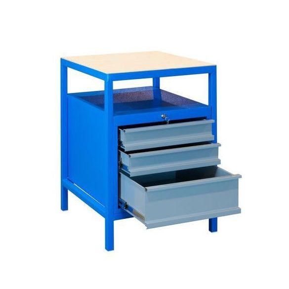Hegesztett műhelyasztal, 572x592x850 mm