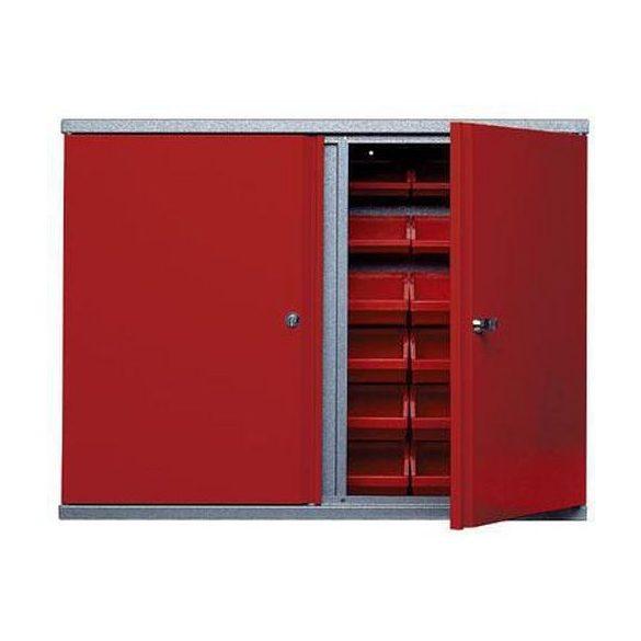 Falra szerelhető fém műhelyszekrény, 800x190x600 mm