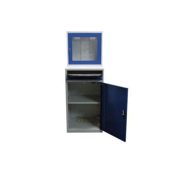 Számítógépes műhelyszekrény, 640x630x1750 mm