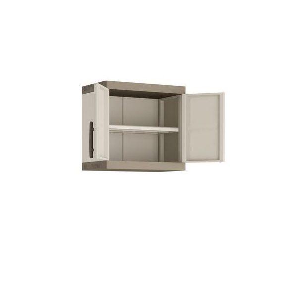 Műanyag, falra szerelhető műhelyszekrény, 650x390x565 mm
