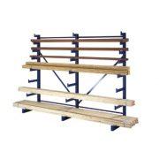 Állvány hosszú tárgyak tárolására, egy oldalas, 4 állvány, 8 db tárolószint, 3750x655x2000 mm