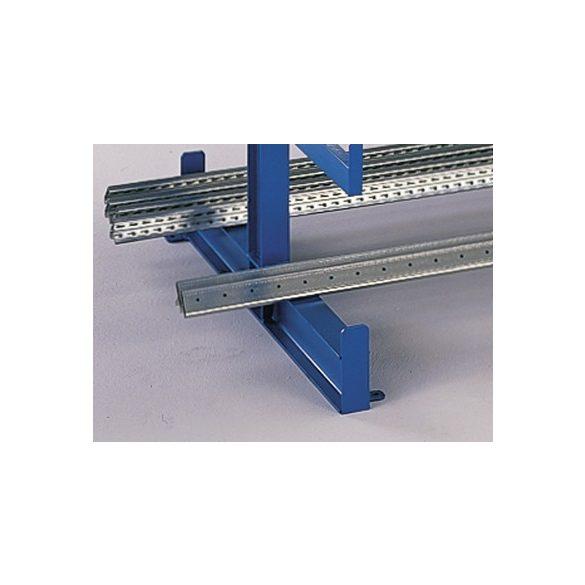 Konzolos állvány, két oldalas, 4 állvány, 5 db rakodószint/oldal, 3750x1115x2000 mm